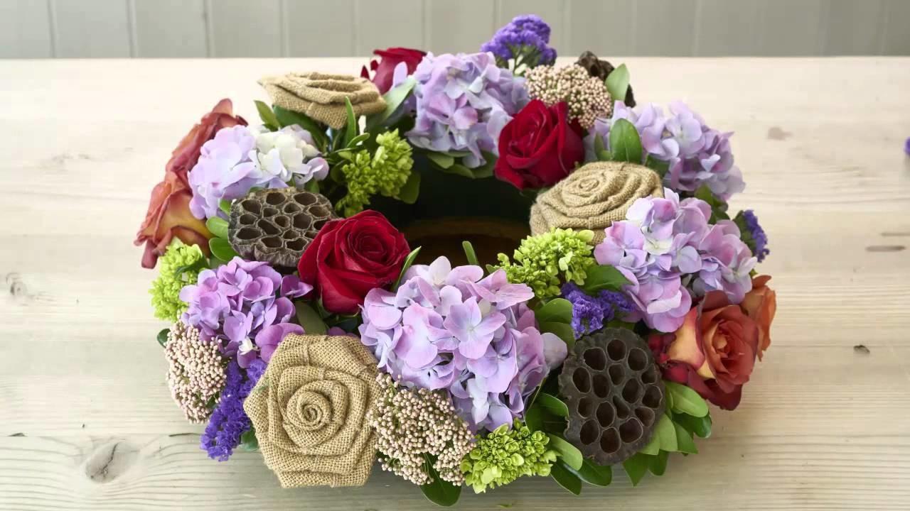 How to Make a Thanksgiving Centerpiece or Fall Wreath DIY | 1800Flowers.com