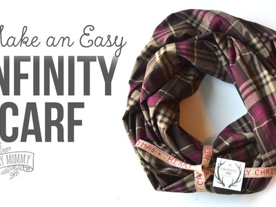 How to Make An Infinity Scarf. DIY Gift Idea