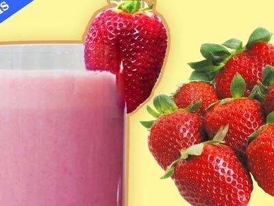 How To Make Strawberry Milkshake |  Milkshake à la fraise | Easy DIY Recipe for Kids & Adults