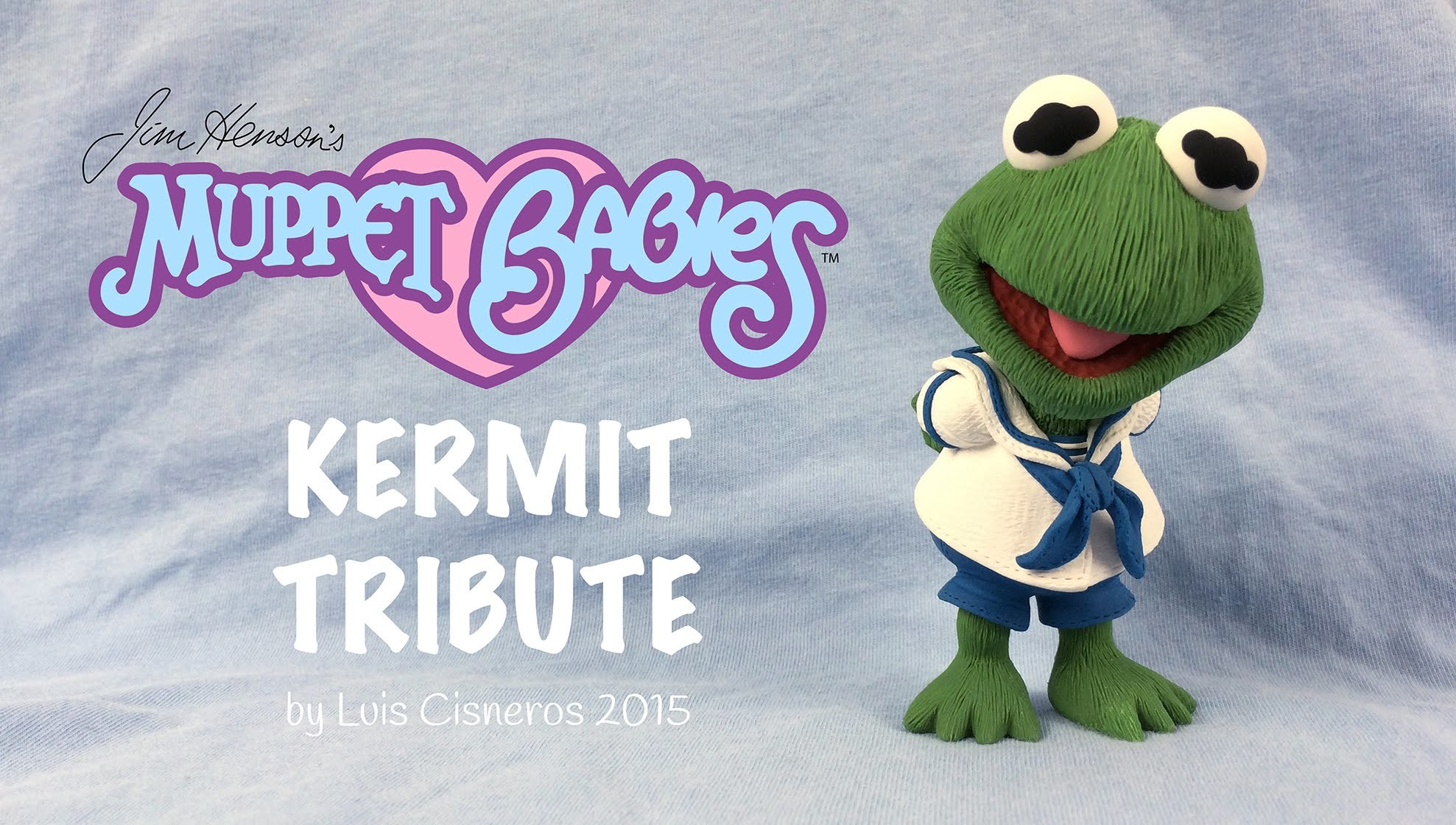 Polymer Clay Tutorial - How to create BABY KERMIT tribute from the TV show Muppet Babies