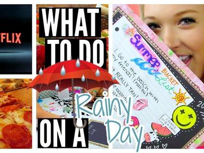 Rainy Day. Activities, DIY, & Food!
