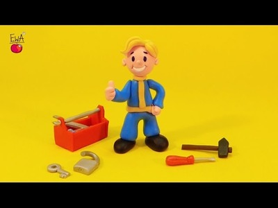 VAULT BOY - polymer clay tutorial by LetsClay WithEwa