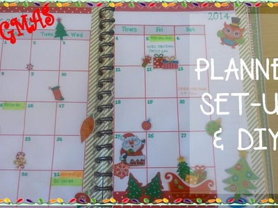 VLOGMAS 2014: Planner Set-Up & DIY How To Make Your Own Planner