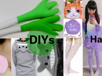 3 Cute DIYs: DIY Hatsune Miku Leek Plush+Totoro Hoodie+Pom Pom Earrings+Cute Cheap Haul