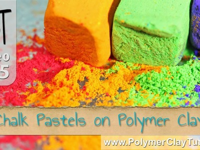 Chalk Pastels on Polymer Clay (Solid and Liquid Clay)
