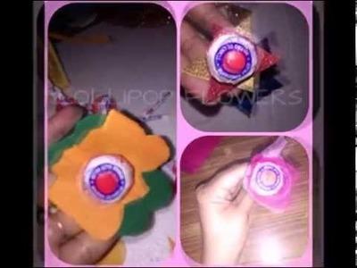 DIY :-) 3 Ideas of Making Lollipop Flowers