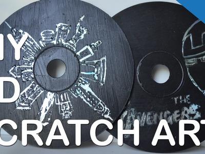 DIY CD SCRATCH ART