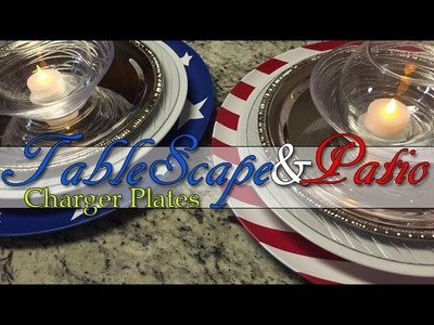 DIY Charger Plates | 4th of July Decor Series | Part 1