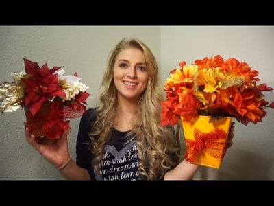 DIY Dollar Tree Flower Arrangement for ANY Holiday!