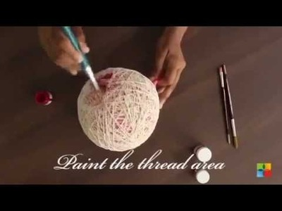 DIY: How to make String  pendant Lamp