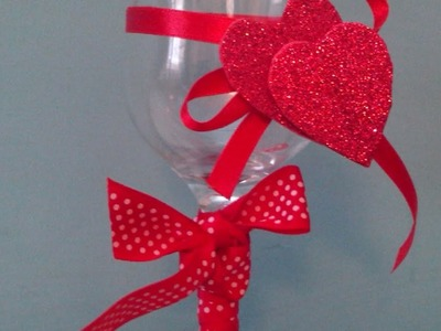 Make a Cute Valentine-Decorated Wine Glass - DIY Home - Guidecentral