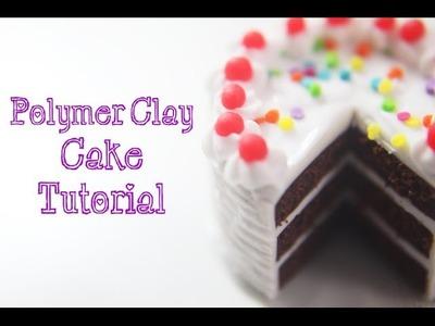 Miniature Food Tutorial: Polymer Clay Cake with Rainbow Sprinkles