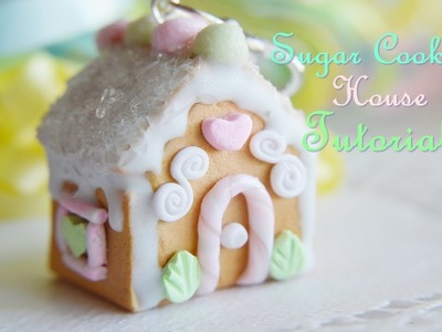 Polymer Clay Sugar Cookie House Ornament Tutorial Polymer clay Gingerbread House Alternative