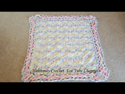 Crochet Heirloom Rainbow Chevron Baby Blanket DIY Tutorial