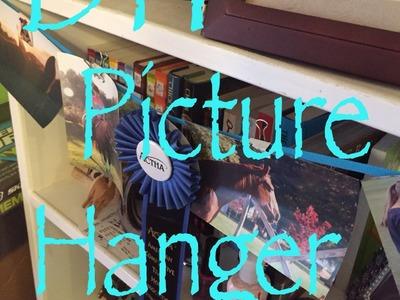 DIY: picture hanger