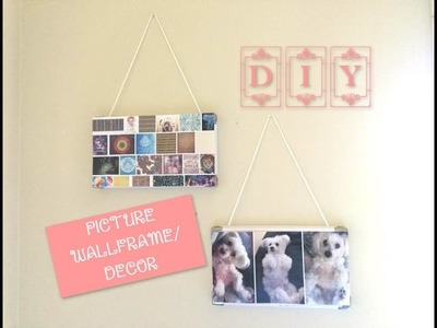 DIY ---► PICTURE WALL FRAME.DECOR ♡