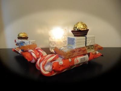DIY Santa Candy Sleigh Christmas Gift Idea