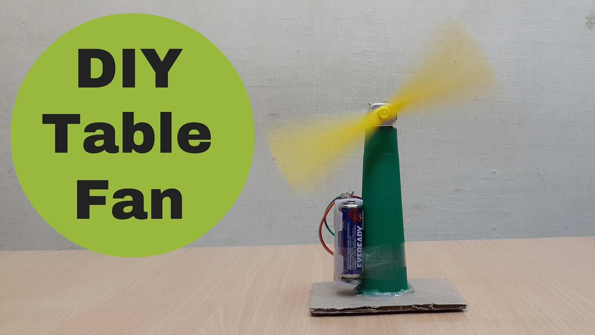 How to Make a Homemade Mini Table Fan - Very Easy DIY Fan