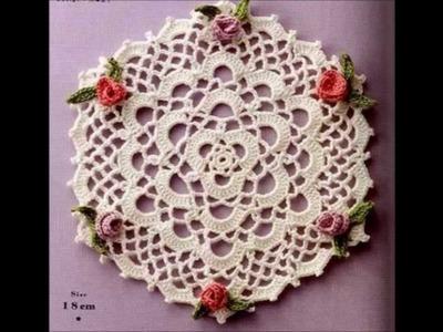 Crochet tablecloth - Ganchillo mantel - croche centrinho - uncinetto