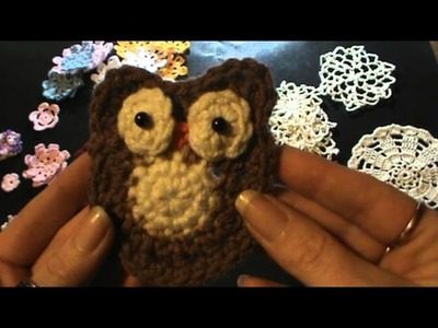 Cute Owl, Doilies, and flowers oh my!