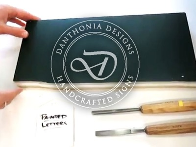 Danthonia Designs: How To Carve a Letter - Part 1