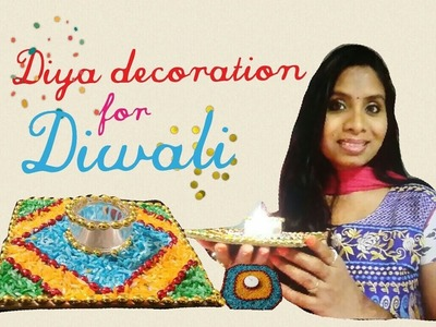 DIY-Diya.Candle decoration ideas for Diwali