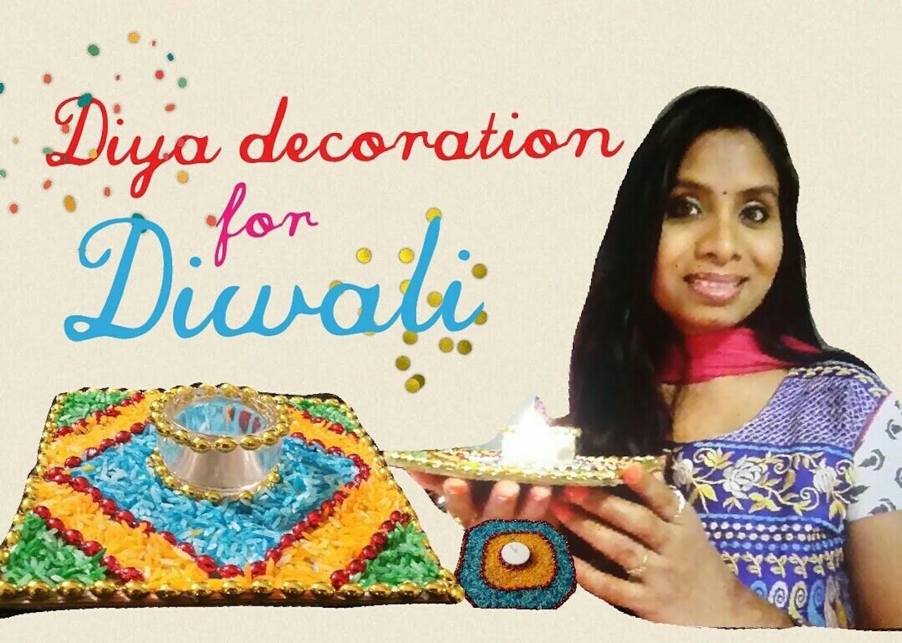 DIY-Diya.Candle decoration ideas for Diwali