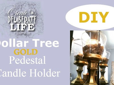 DIY | DOLLAR TREE Gold Candle Holder
