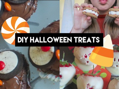 DIY HALLOWEEN TREATS! Easy, Quick and Cheap! | Eve