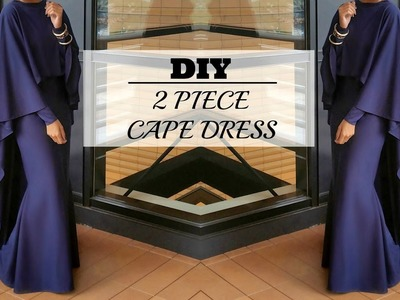 DIY | How to Make a Cape Maxi Dress