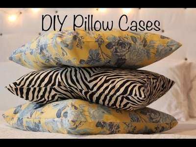 DIY Pillow Cases | Sewing Project for beginners