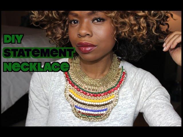 DIY Statement Necklace | MariaAntoinetteTV