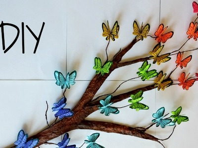 DIY Tree Branch + 3D Butterflies ♥. Room Decor