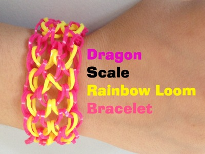 DRAGON SCALE Loom Bracelet Tutorial Rainbowloom l JasmineStarler