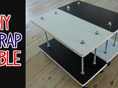 Easy DIY Scrap Wood + Threaded Rod Table