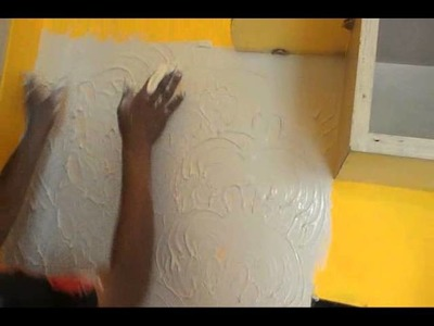 How to design a wall with white cement. simple steps to decorate your wall