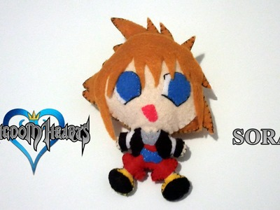 How to Make a Chibi Sora plush from felt