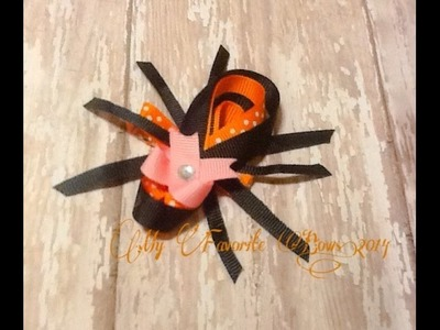 How to make a cute & simple spider hair clip (ribbon sculpt