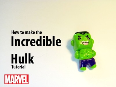 How to make an Incredible Hulk tutorial --Polymer Clay
