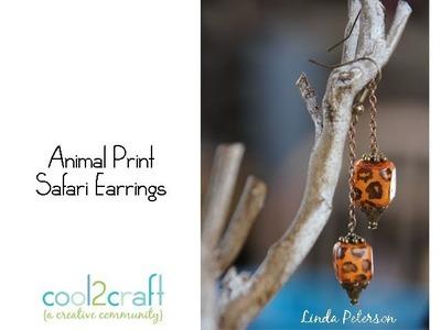 How to Make Animal Print Safari Earrings by Linda Peterson