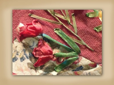 How to make silk ribbon embroidered tulip flowers