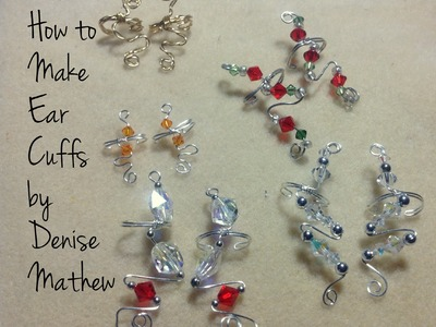 How to Make Wire and Bead Ear Cuffs by Denise Mathew