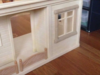 ~How to wallpaper a Sylvanian Families dollhouse~
