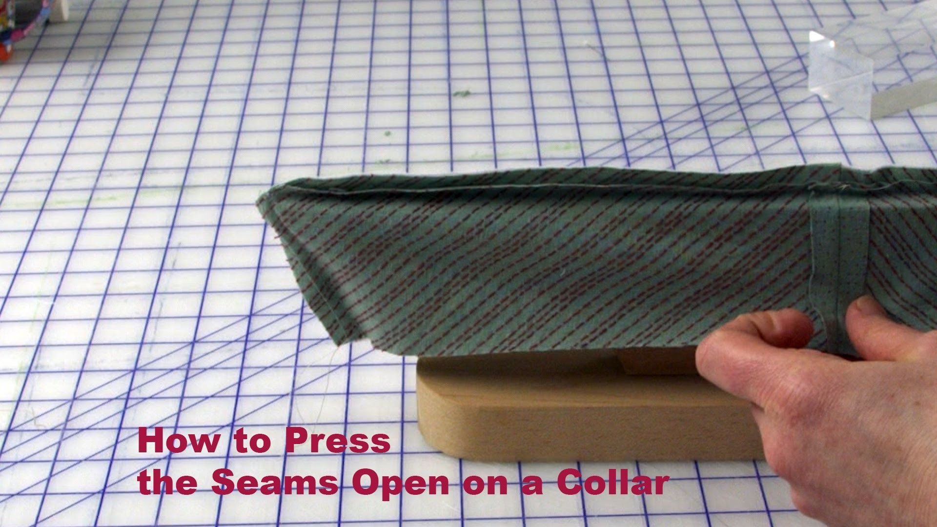 J Stern Designs l Quick Tip:  How to press the Seam Open on a Collar or Cuff