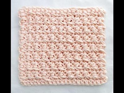 Learn A Stitch Washcloth 5: Crossed Single Crochet