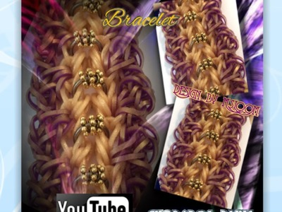 Rainbow Loom Band Connected Ribbons Bracelet Tutorial.How to