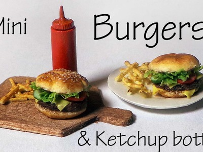 Simple Polymer Clay Burgers & Ketchup Bottle - Polymer Clay Tutorial