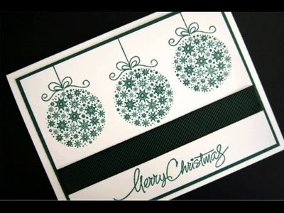 Simply Elegant Ornament Card