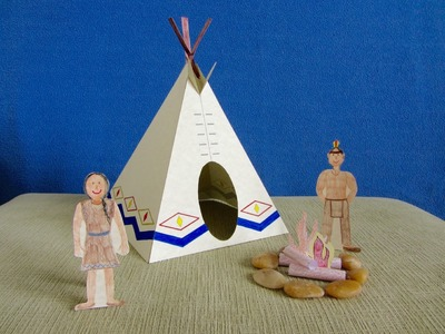 3D Paper Tipi.Teepee Craft Project