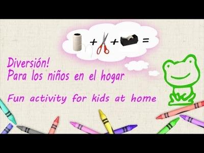 Actividades para niños.Fun activity for kids at home